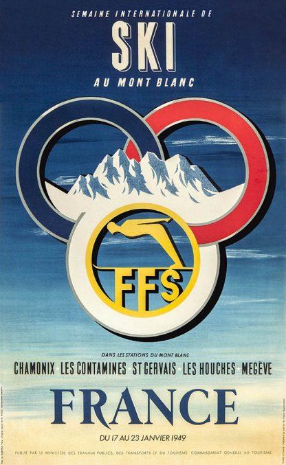 France Original Ski Poster