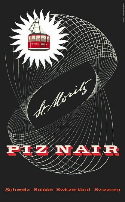 Piz Nair Original Ski Poster