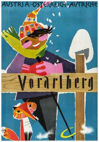 Voralberg Original Ski Poster