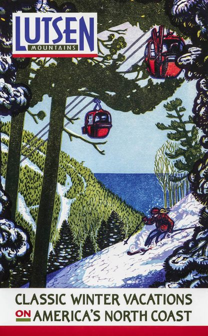 Lutsen Original Ski Poster