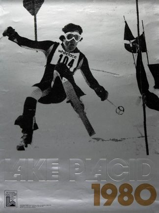 Lake Placid Original Ski Poster