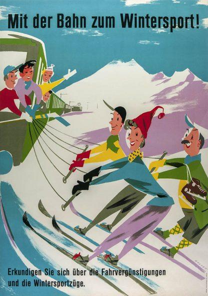 Winter Sport Original Ski Poster