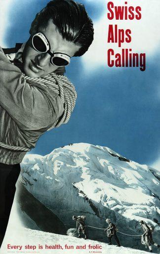 Swiss Alps Original Ski Poster