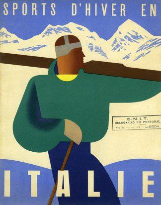 Italy Original Ski Poster