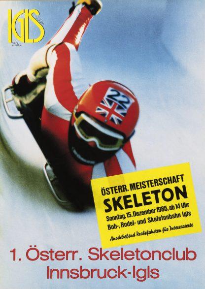 Igls: 1985 Austrian Skeleton Bob Championships